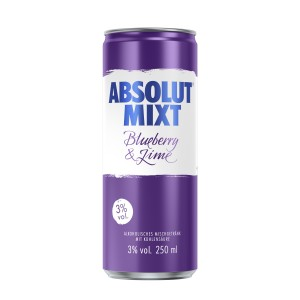 ABSOLUT Mixt Absolut Mixt Blueberry & Lime - 250ml